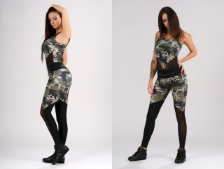 fitness overal Luxesse army